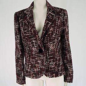 Emma James | Tweed One Button Blazer Jacket